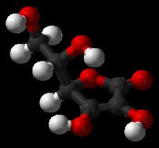 Ricostruzione 3D della molecola di Acido Ascorbico